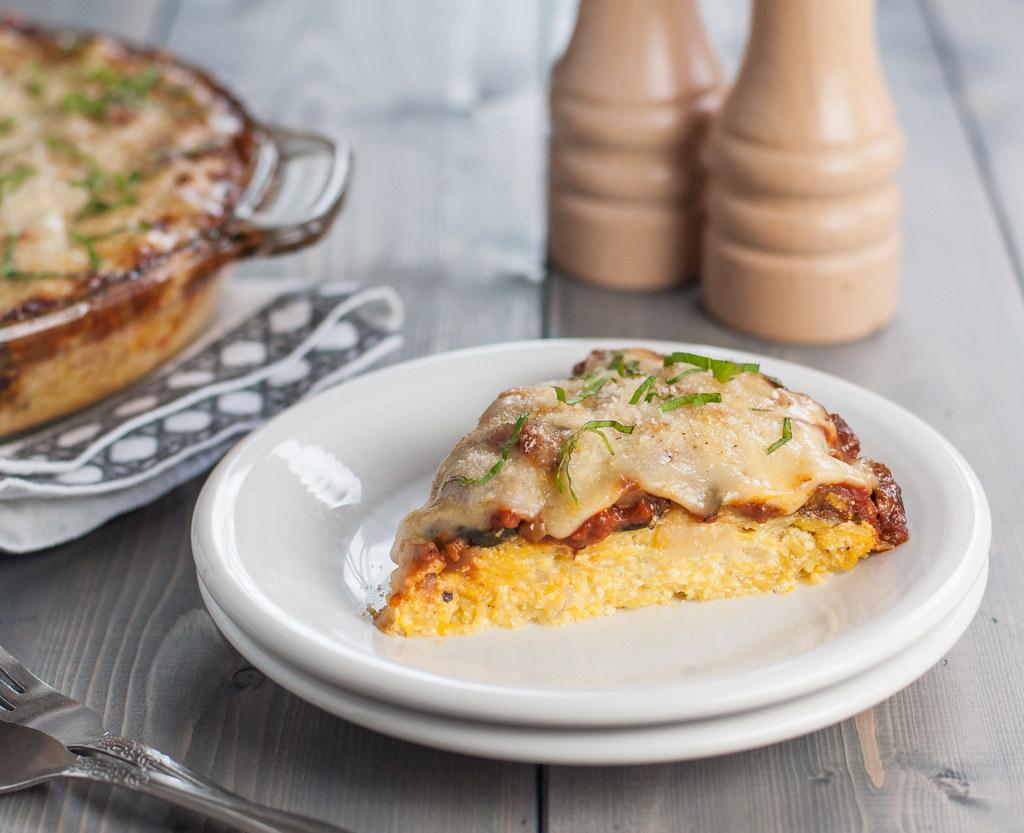 cheesy gluten free spaghetti squash pie