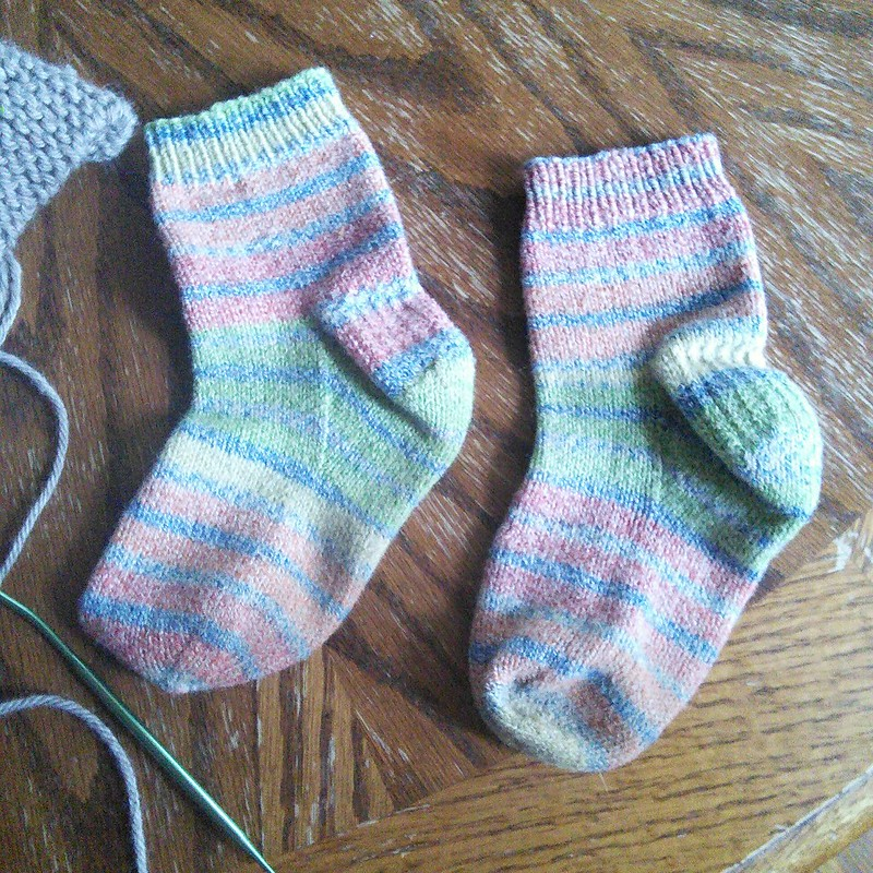 Helens rainbow socks
