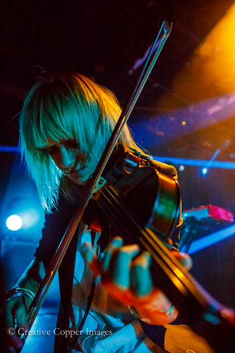 Anna Bulbrook of The Airborne Toxic Event makes her viola sing. Photo by Creative Copper Images, Vancouver, BC, Oct. 24, 2014.
