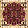 Brown, Red, Pink, Gold Hexagon
