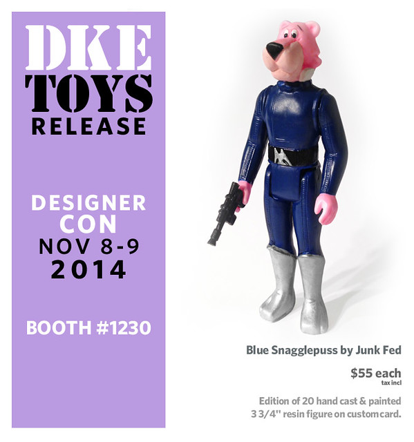 Blue Snagglepuss by Junk Fed