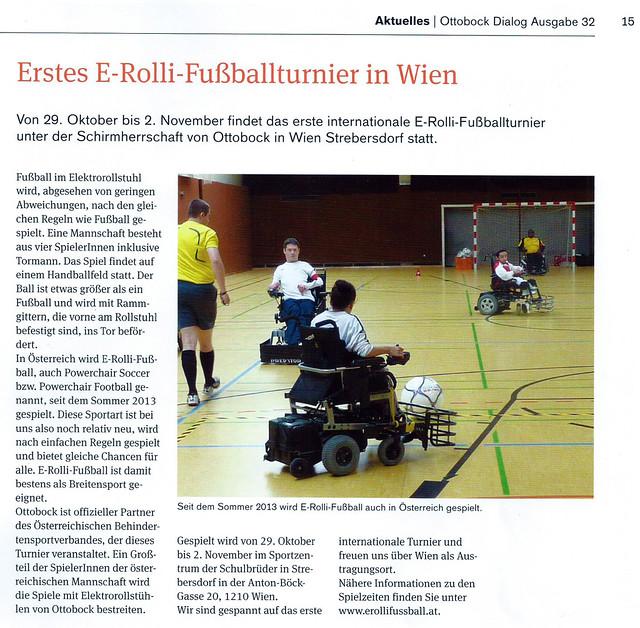 """Ottobock Firmenzeitung """"Dialog"""" Ausgabe 32; Seite 15"""