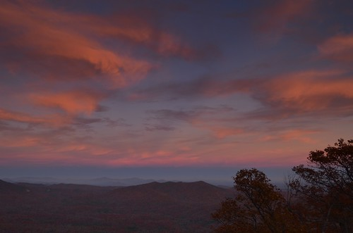 autumn sunset color fall clouds evening nc northcarolina blueridgeparkway brevard poundingmilloverlook milepost413