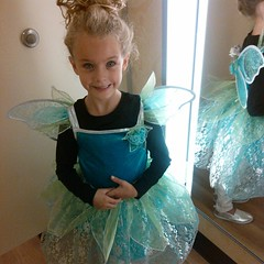 Our costume project ended up getting scrapped last minute, luckily found a fairy on clearance and she loves it. Haha
