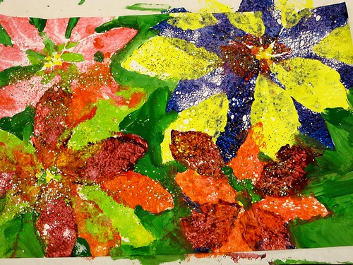 Georgia O'Keeffe Printed Poinsettias