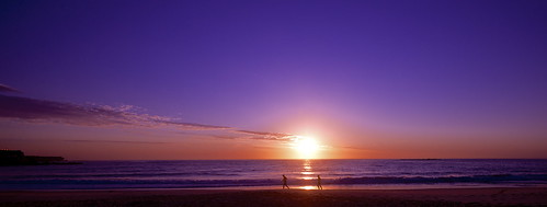 beach sunrise sydney australia coogee