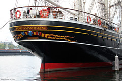 The stern of clipper 'Stad Amsterdam'