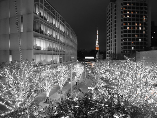 FUJIFILM X30 night scene illumination SNOW&BLUE Advanced filter Part color orange