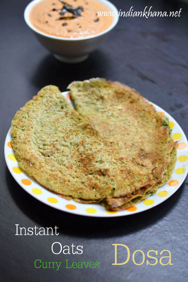 Instant-Oats-Curry-Leaves-Dosa