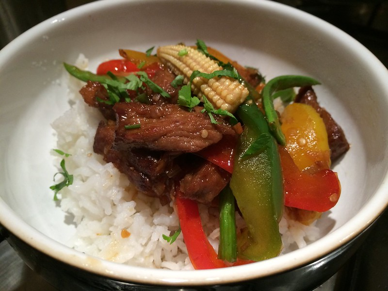 Sizzling Beef Teriyaki : Close Up Two