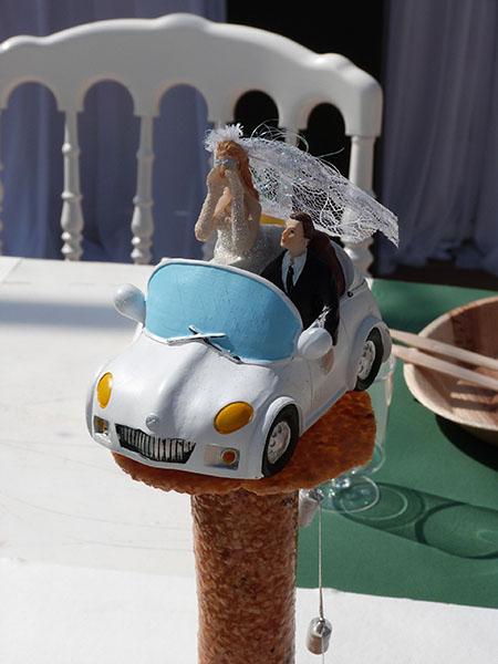 la voiture de s mariés
