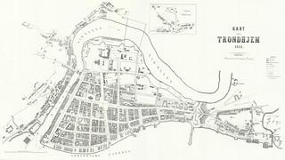Kart over Trondhjem (1868)
