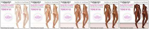 *YS&YS* - Body Installer TMP tone 1-5