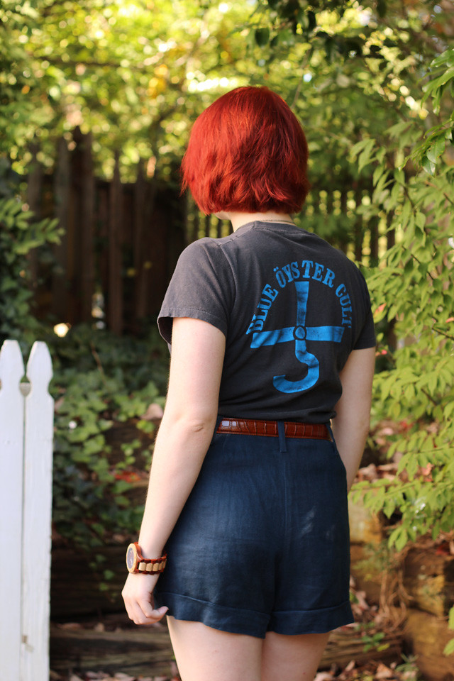 Vintage Blue Oyster Cult T-shirt and Bright Red Hair