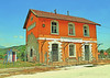 Macedonia, Serres regional unit, Aggista village, the old train and police station, Greece #Μacedonia by gentle wolf