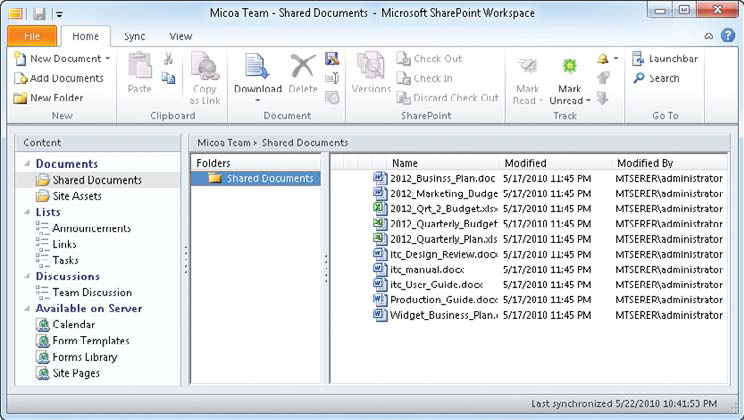 SharePoint-Workspace