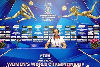 Noicattaro. Giuseppe Cinquepalmi ai Mondiali di volley femminile front