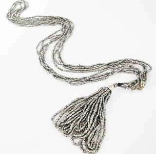 Laura- cut steel necklace