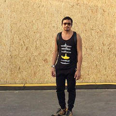 My yellow submarine #threadless #tanktop and 579 #encap #newbalance at #soledxb