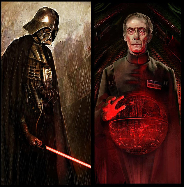 Vader and Tarkin by Benjamin Carre