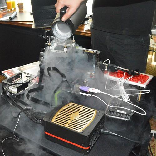 Demostración de overclocking con refrigeración Thermaltake