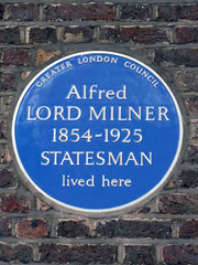 Photo of Alfred Milner blue plaque