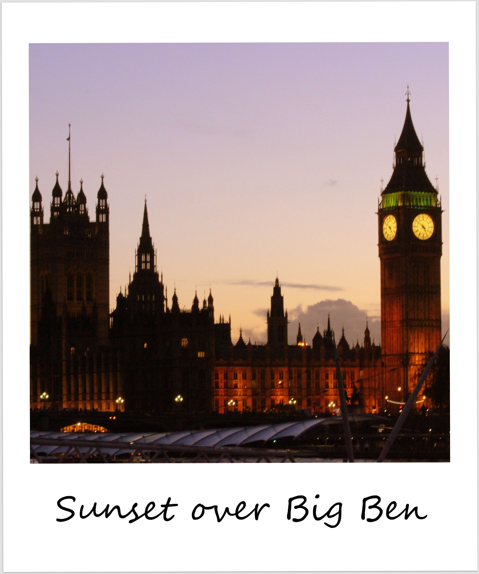 polaroid of the week england london sunset