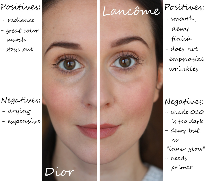 diorskin nude foundation lancome teint miracle review