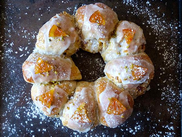 couronne au citron cuite