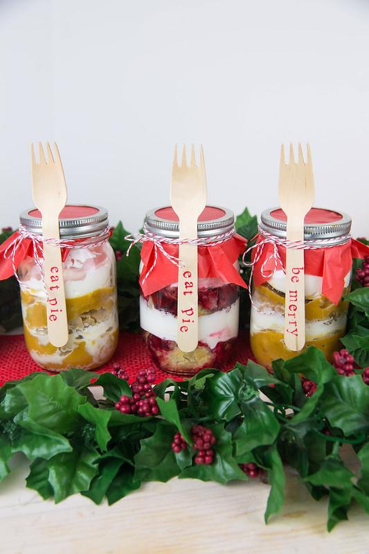 Holiday Pie Trifle Mason Jar Gifts