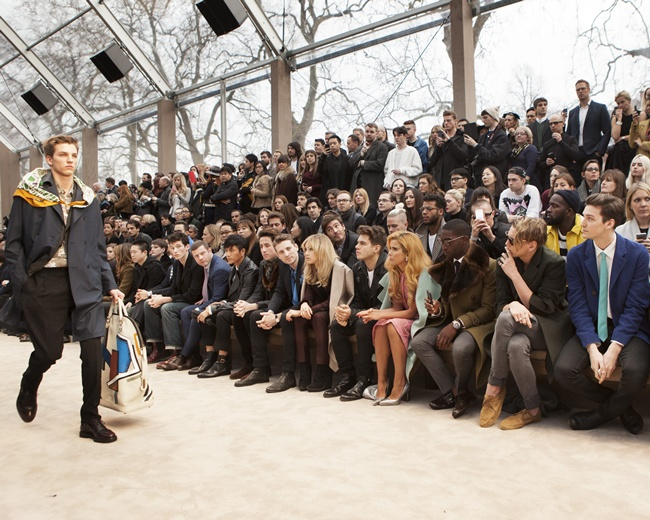1 Guests at the Burberry Prorsum Menswear Autumn_Winter 2014 Show