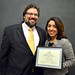 MAPC Fall Council Meeting: MAPC Deputy Director Joel Barrera, MAPC General Counsel Jennifer Garcia, recipient of the Robert Davidson Staff Achievement Award