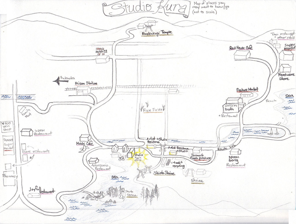 Jen's Map to Studio Kura Surroundings (contrast fixed)