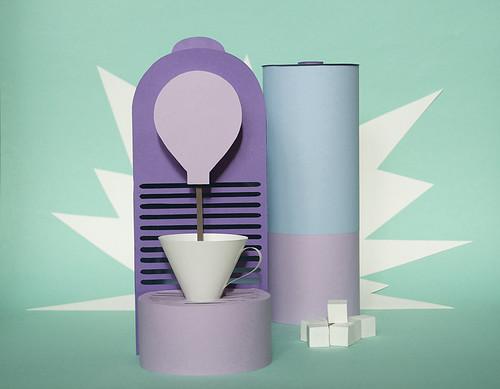 Paper Sculpture Nespresso