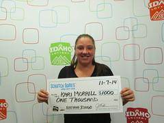 Kari Morrill - $1,000 Beehive Bingo