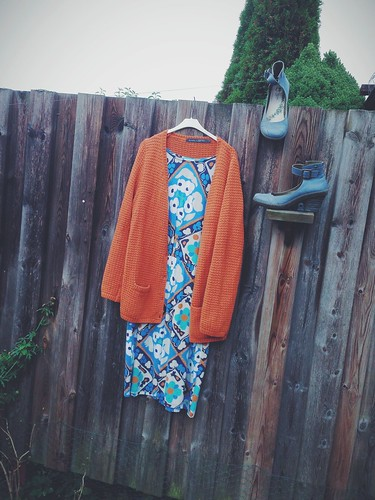 dress - cardigan - shoes