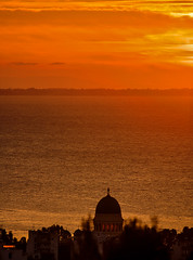 Saint Andrew's cupola on sunset