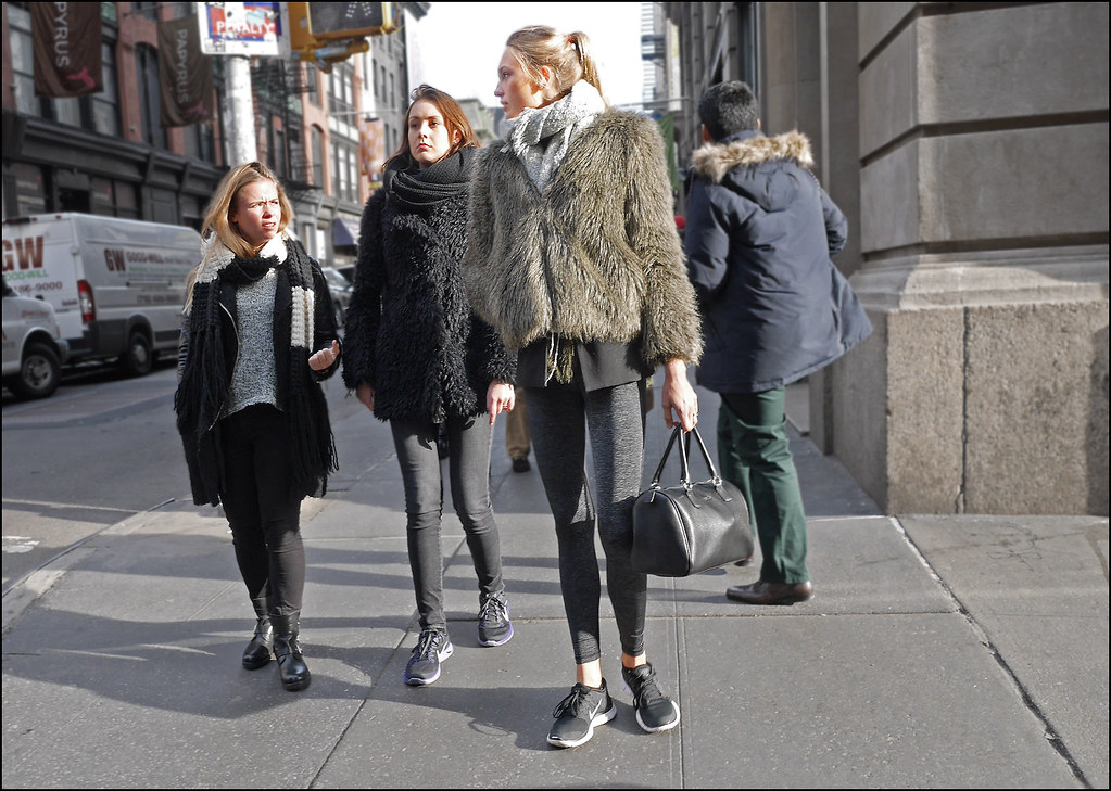 SS11-14  13w3 grey short  fur coat and leggings nikes  black fur coat skinny jeans nikes black leather coate engineer boots