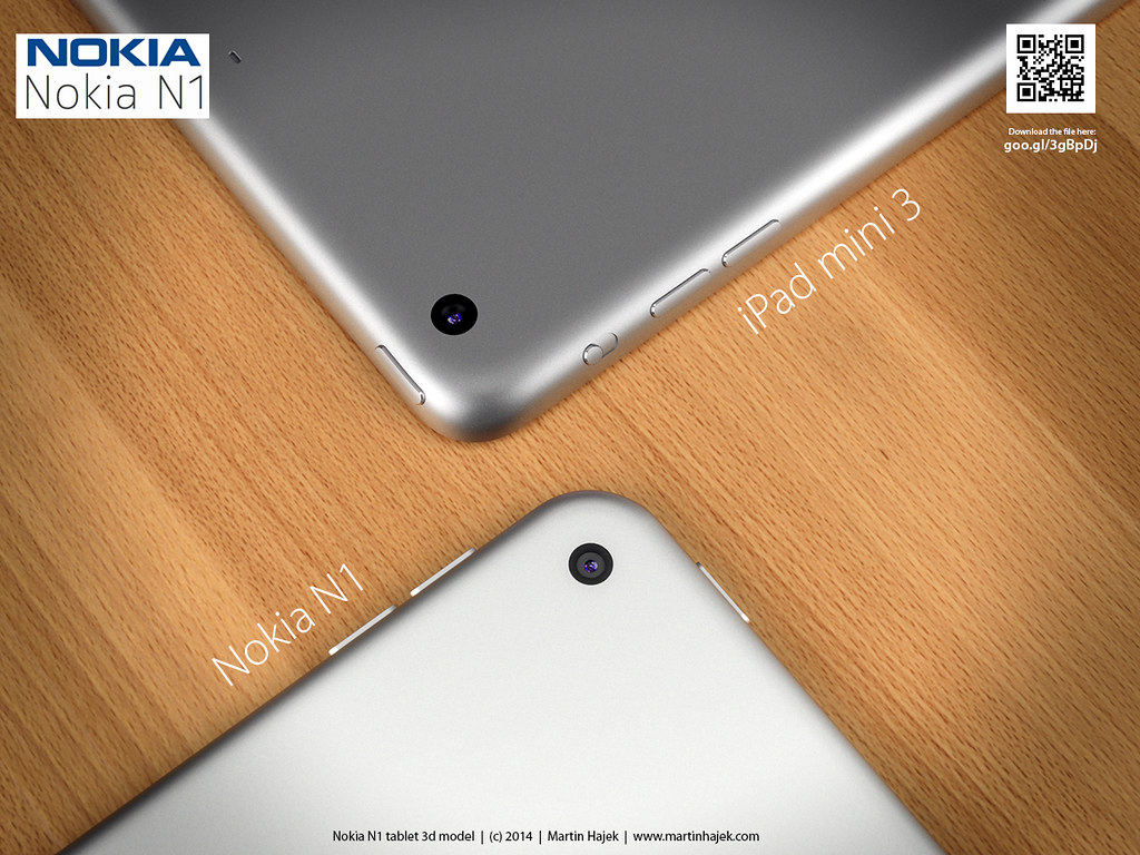 Nokia N1 vs iPad mini 3 - Porovnání designů