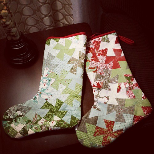 Christmas stockings finished for Chris and I. Fiona's was finished early this year. Now everyone has their own!