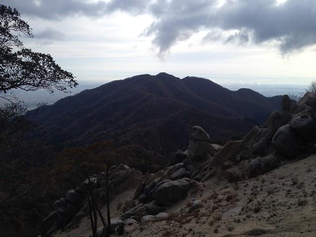 鎌ヶ岳 雲母峰-鎌ヶ岳登山道 白ハゲから雲母峰