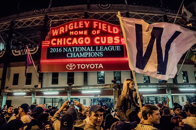 Wrigley Field Marquee - Chicago Cubs 2016 National League Champions