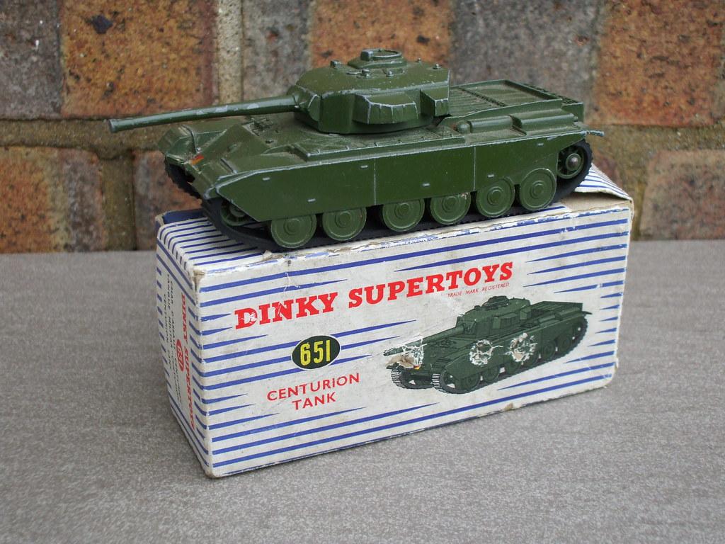 Vintage Dinky Toys Centurion Tank Boxed 1950's Vintage Military Toy