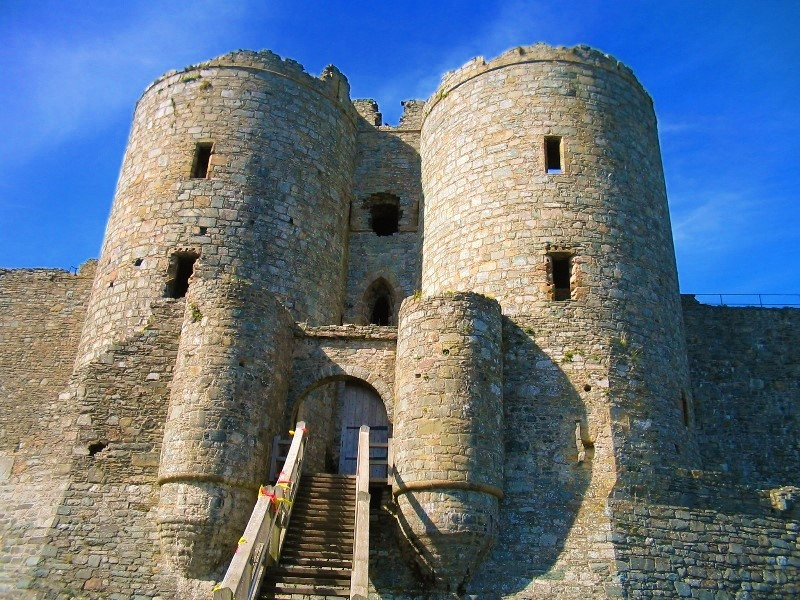 Harlech Castle Gatehouse. Credit Gwen Hitchcock