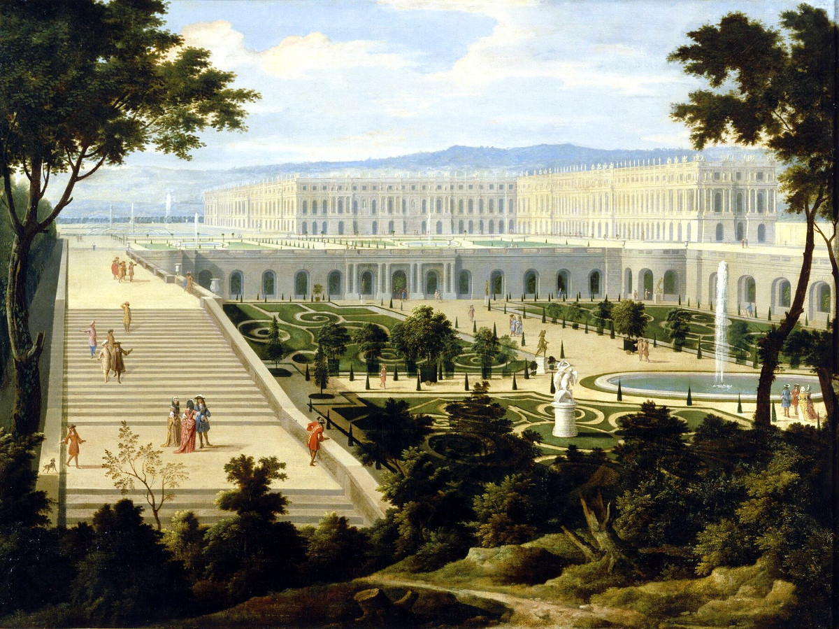 The Orangerie of the Château de Versailles c. 1695