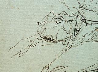 MILLET Jean-François,1850 - Départ pour le Travail, Etude - The Walk to Work  (drawing, dessin, disegno-Louvre RF11191) - Detail 69