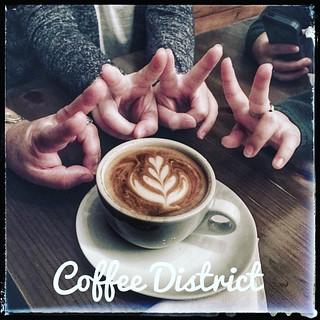 Rico café en @coffeedistrict.gt !!!