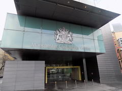 The Manchester Civil Justice Centre in Spinningfields