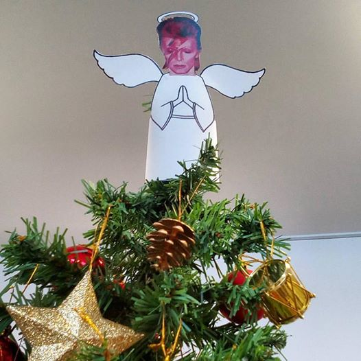David Bowie Christmas angel