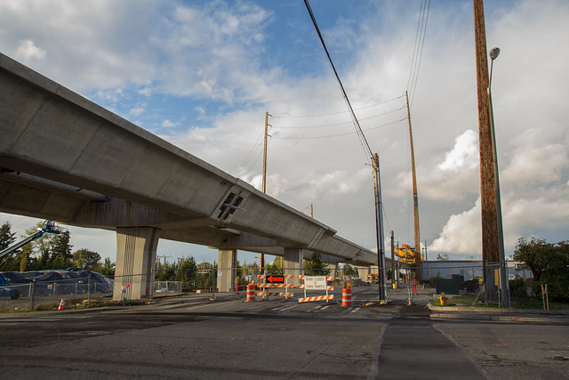 S 200th Link Construction: At 200th Looking North